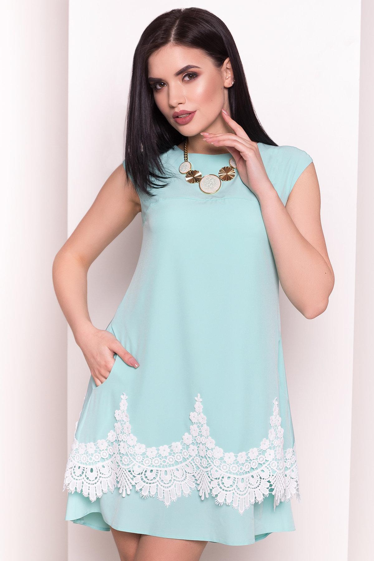 Платье Арвель 4894 АРТ. 34972 Цвет: Мята - фото 2, интернет магазин tm-modus.ru