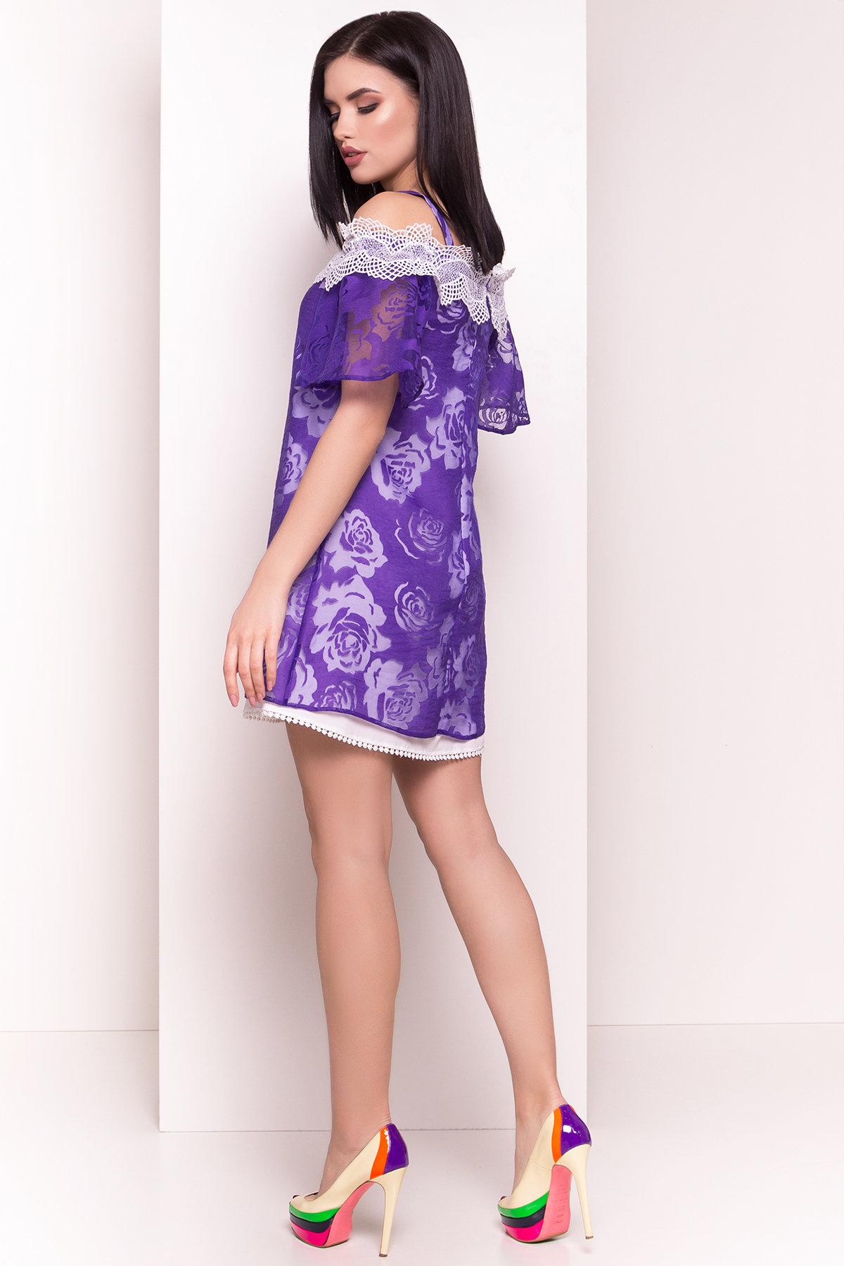 Платье Линда 4946 АРТ. 35094 Цвет: Фиолетовый - фото 3, интернет магазин tm-modus.ru