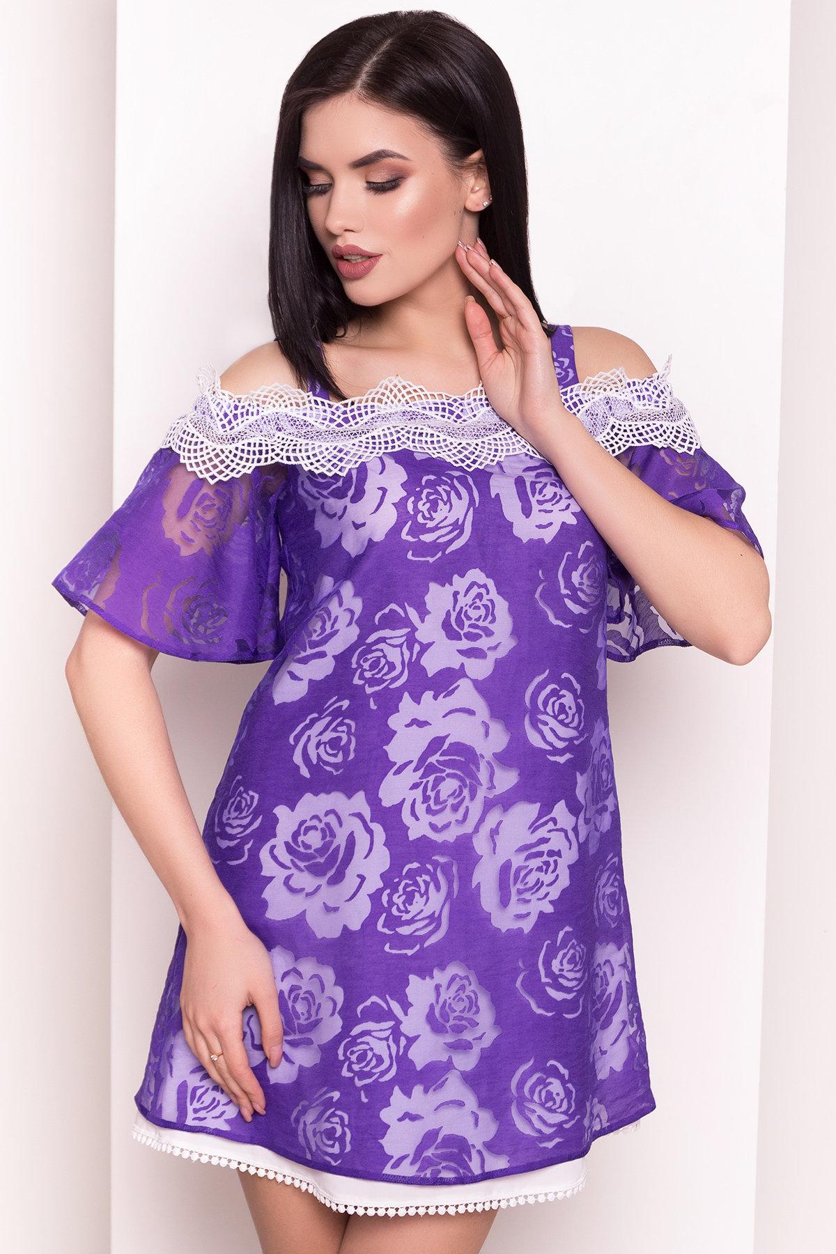 Платье Линда 4946 АРТ. 35094 Цвет: Фиолетовый - фото 2, интернет магазин tm-modus.ru