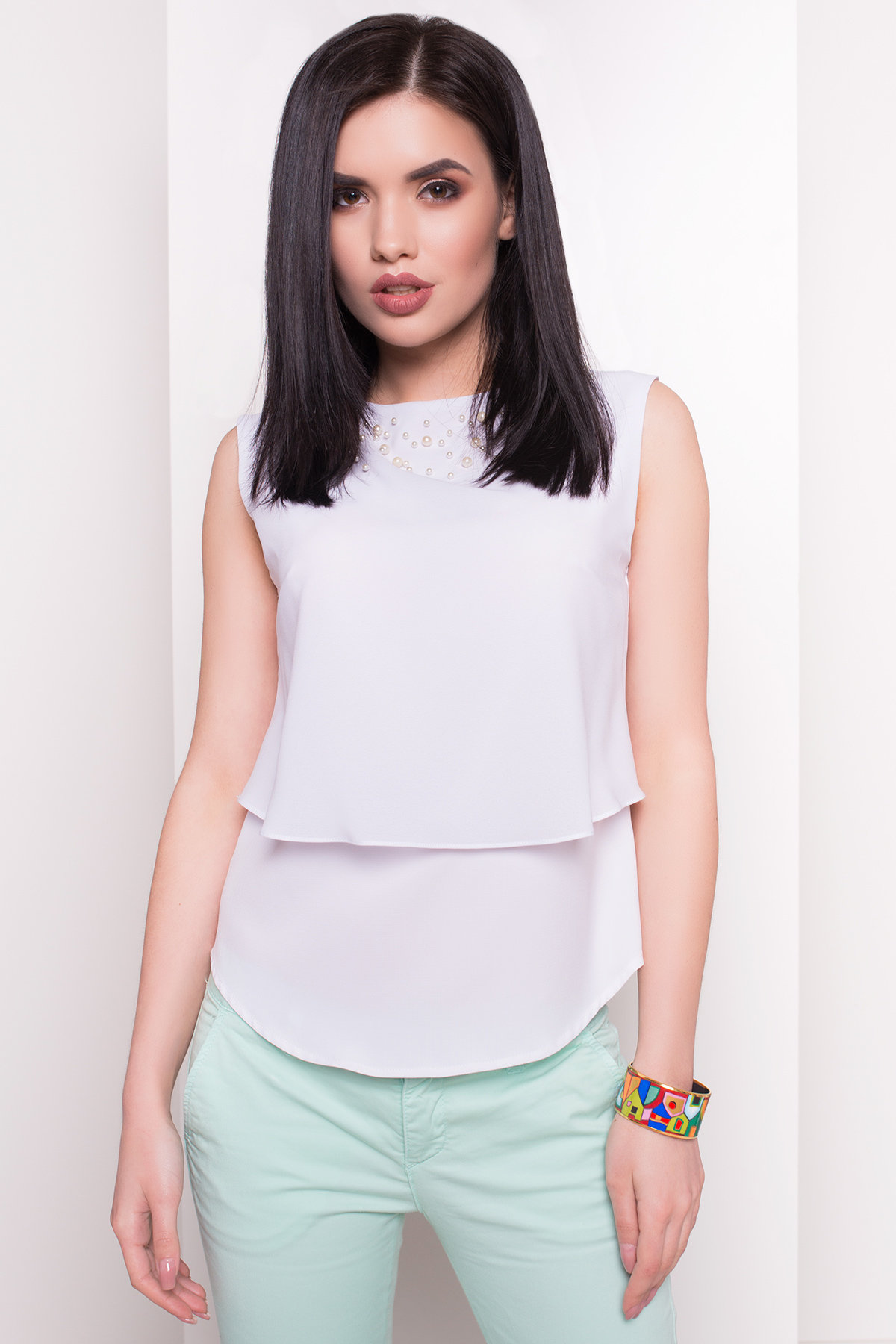 Блузка Арома жемчуг 2960 Цвет: Белый