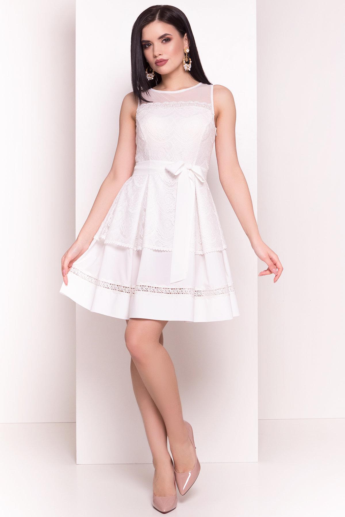Платье Амина 4947 Цвет: Молоко
