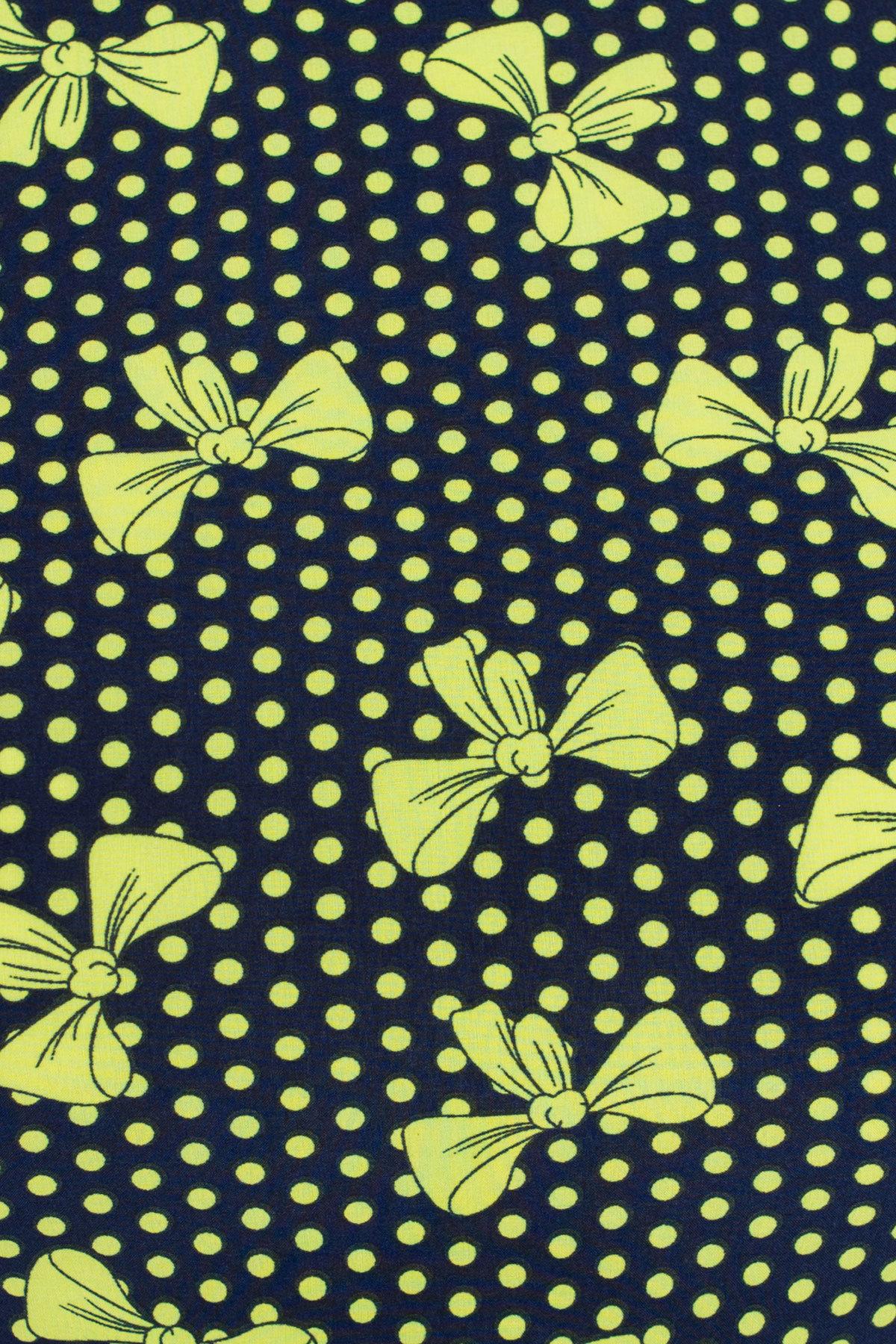 Платье Жадор миди 3012 Цвет: Темно-синий/салат бантик
