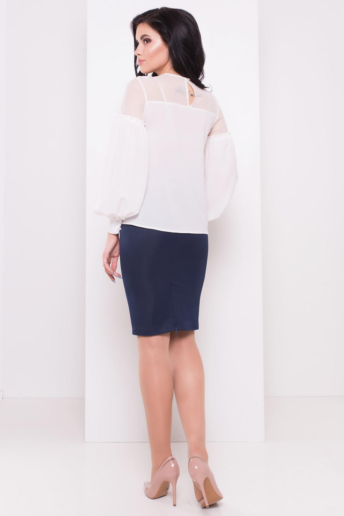 Шифоновая блузка Асия 3230 АРТ. 16639 Цвет: Белый - фото 2, интернет магазин tm-modus.ru