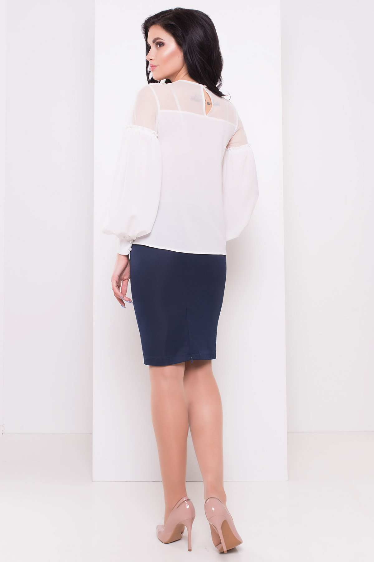 Шифоновая блузка Асия 3230 Цвет: Белый