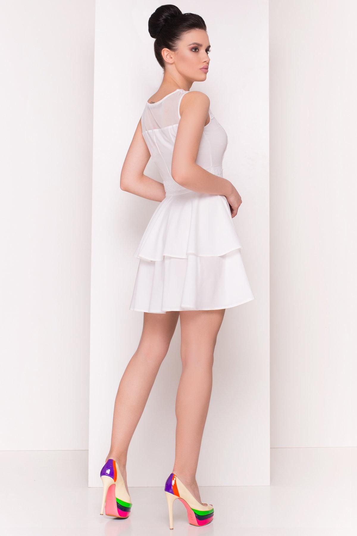 Платье Рина 4933 АРТ. 34959 Цвет: Молоко - фото 2, интернет магазин tm-modus.ru