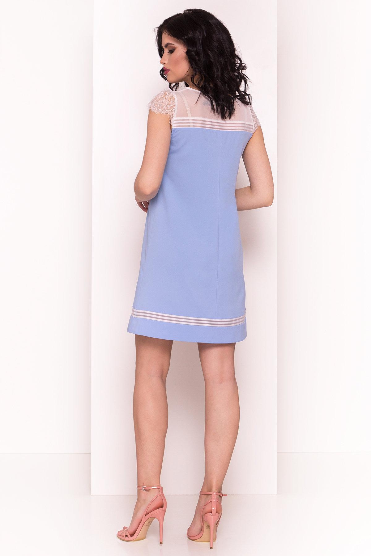 Платье Итана 4880 АРТ. 34549 Цвет: Голубой - фото 3, интернет магазин tm-modus.ru