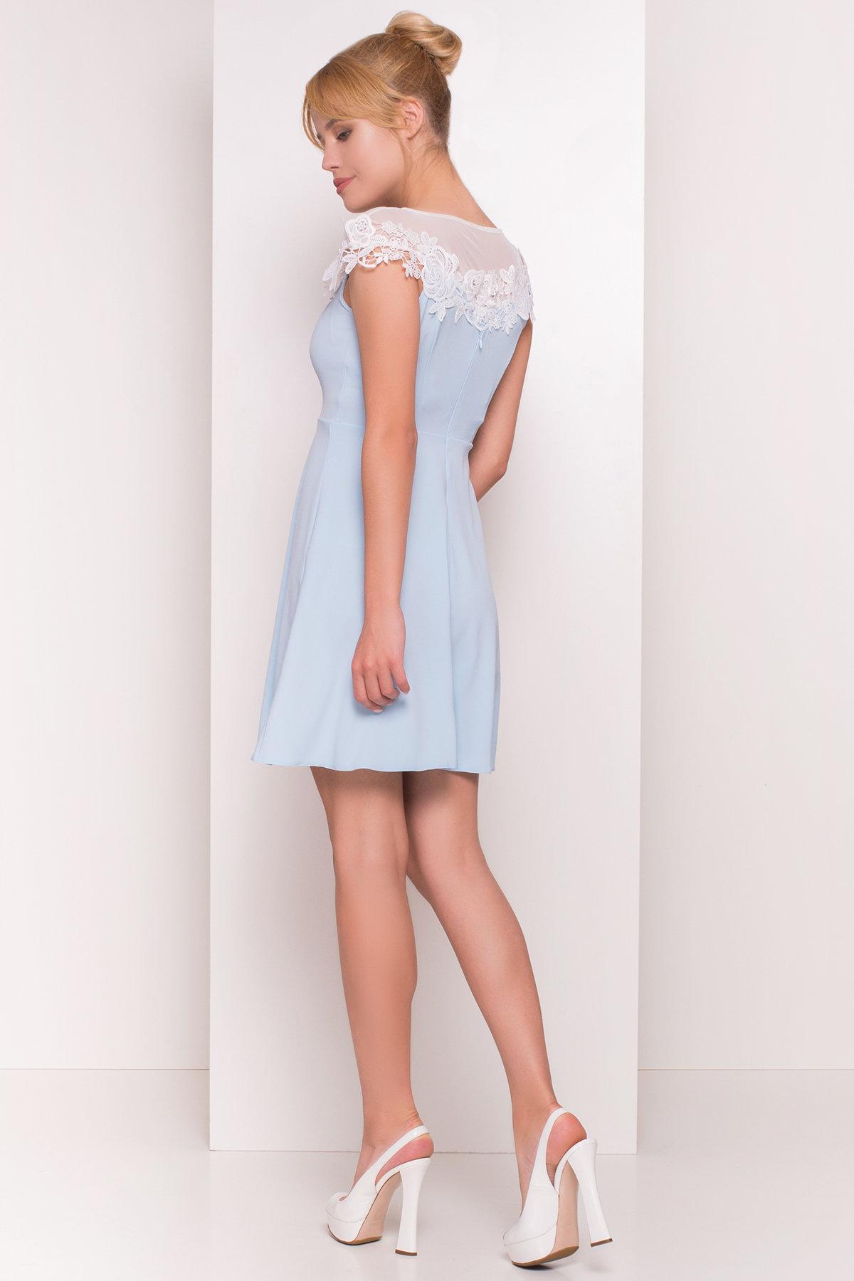 Платье Лиса 4879 Цвет: Голубой Светлый