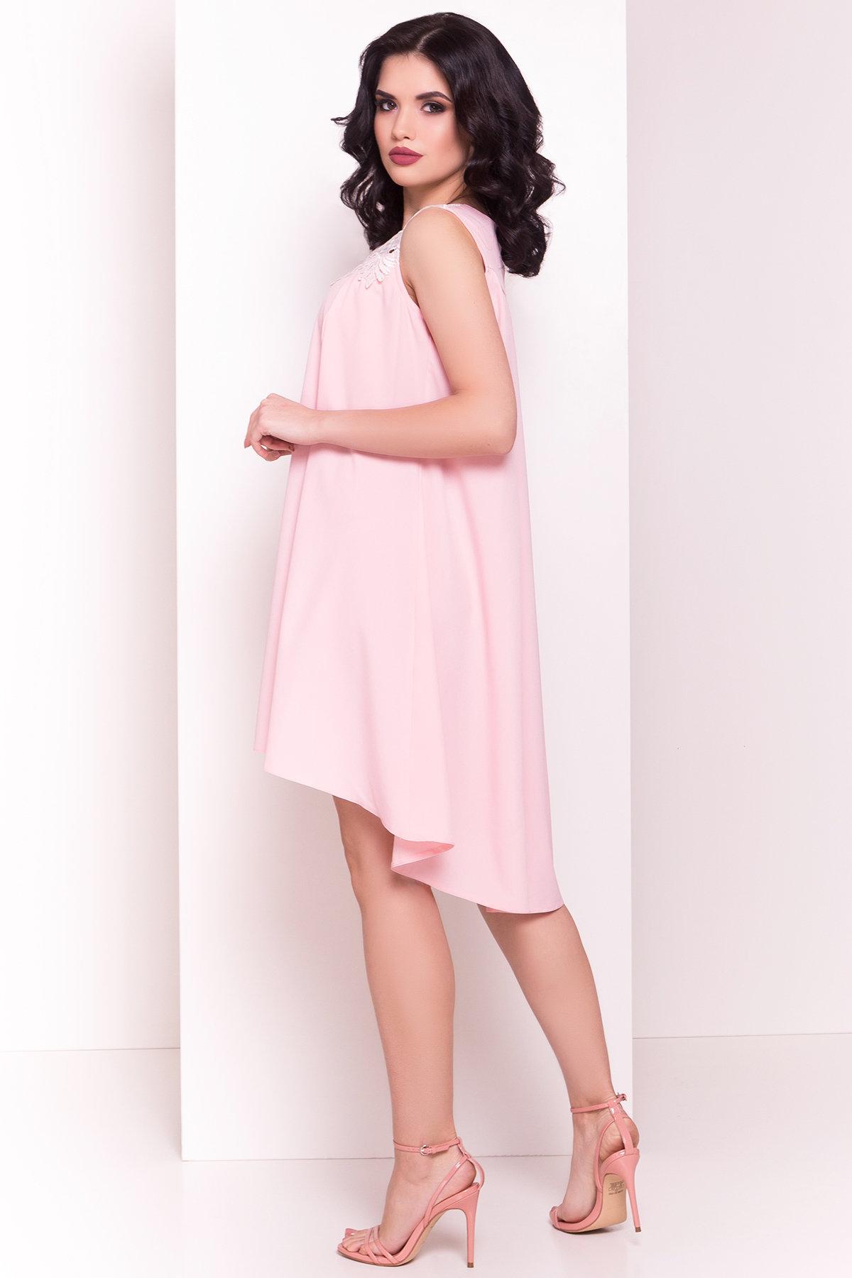 Платье Дели 4874 АРТ. 34782 Цвет: Розовый - фото 3, интернет магазин tm-modus.ru