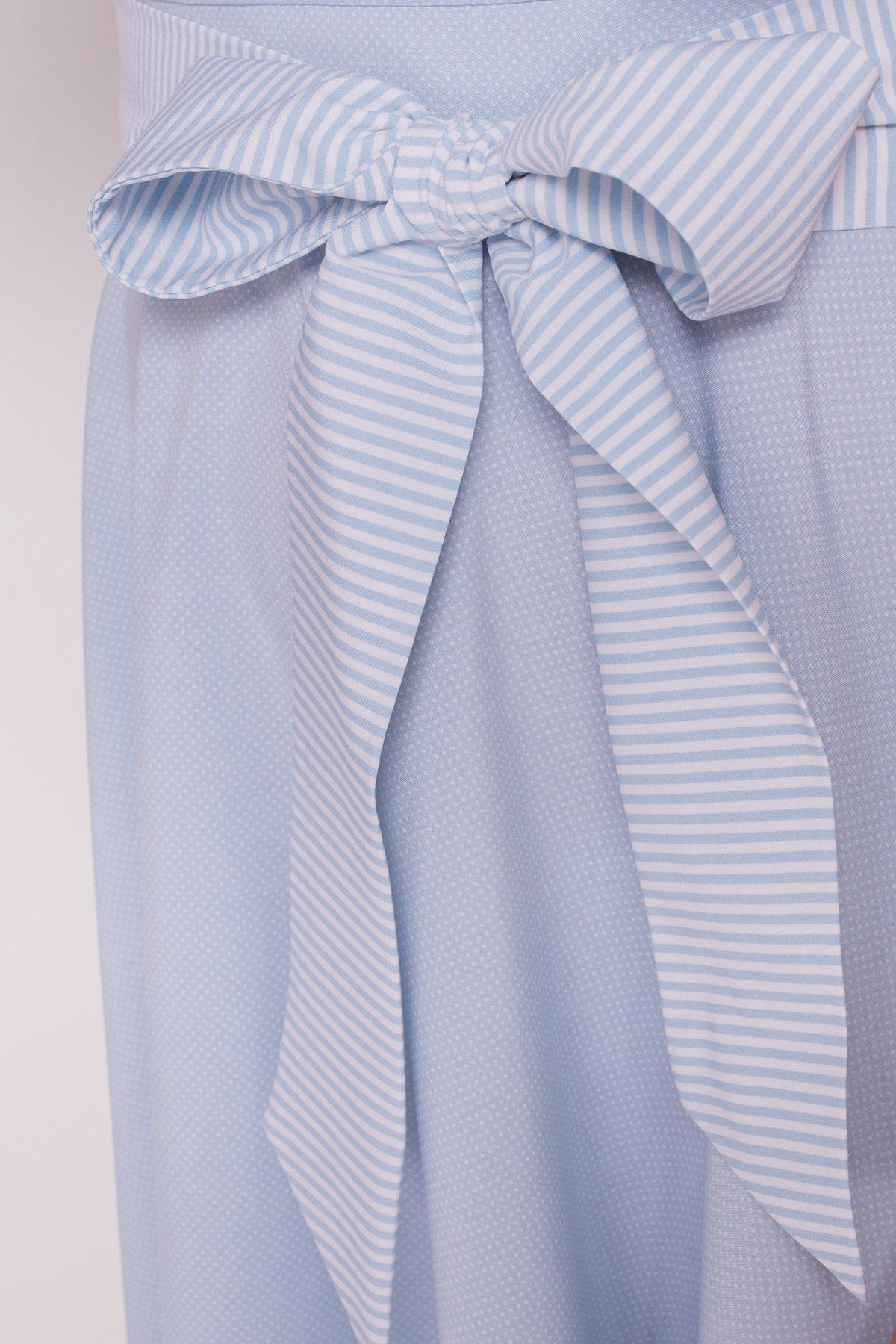 Платье Виолетта 4984 АРТ. 35583 Цвет: Голубой/ молоко горох - фото 5, интернет магазин tm-modus.ru