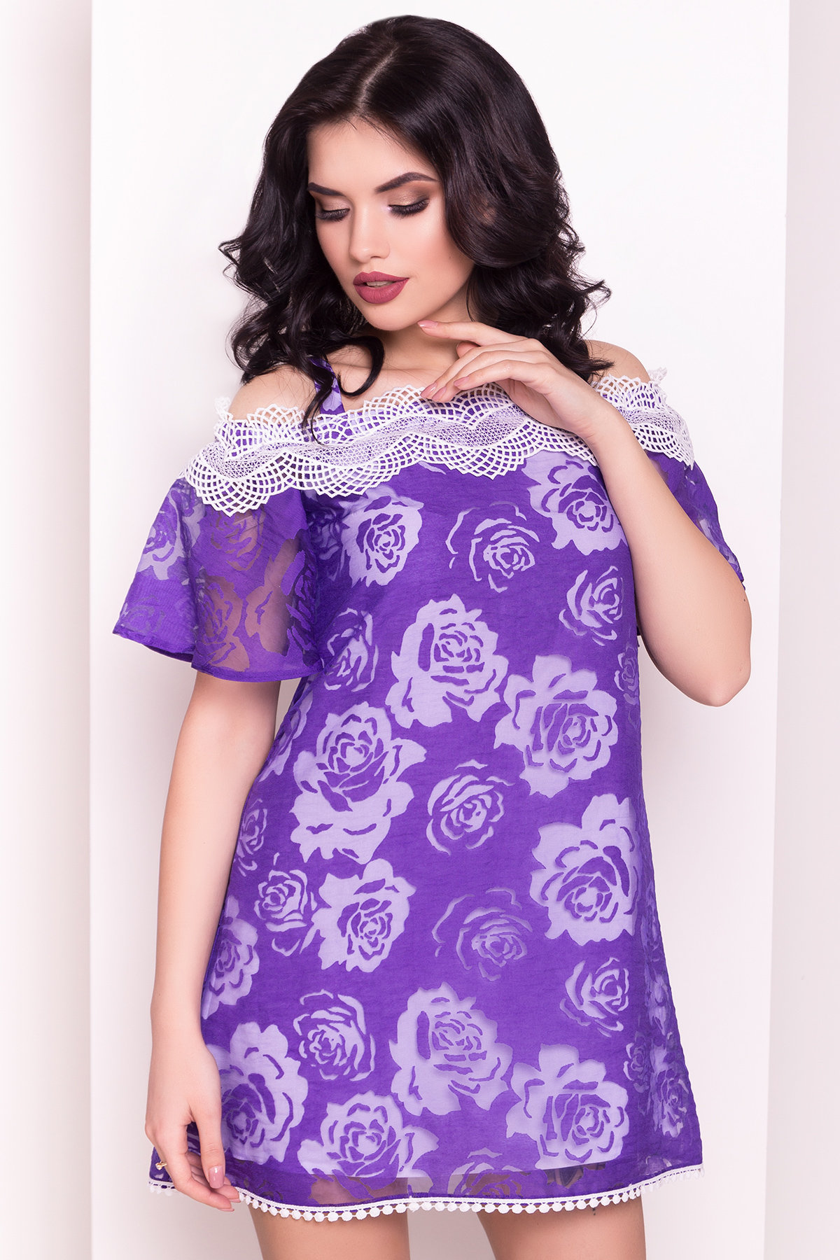 Платье Лонда 5044 АРТ. 35632 Цвет: Фиолетовый - фото 2, интернет магазин tm-modus.ru