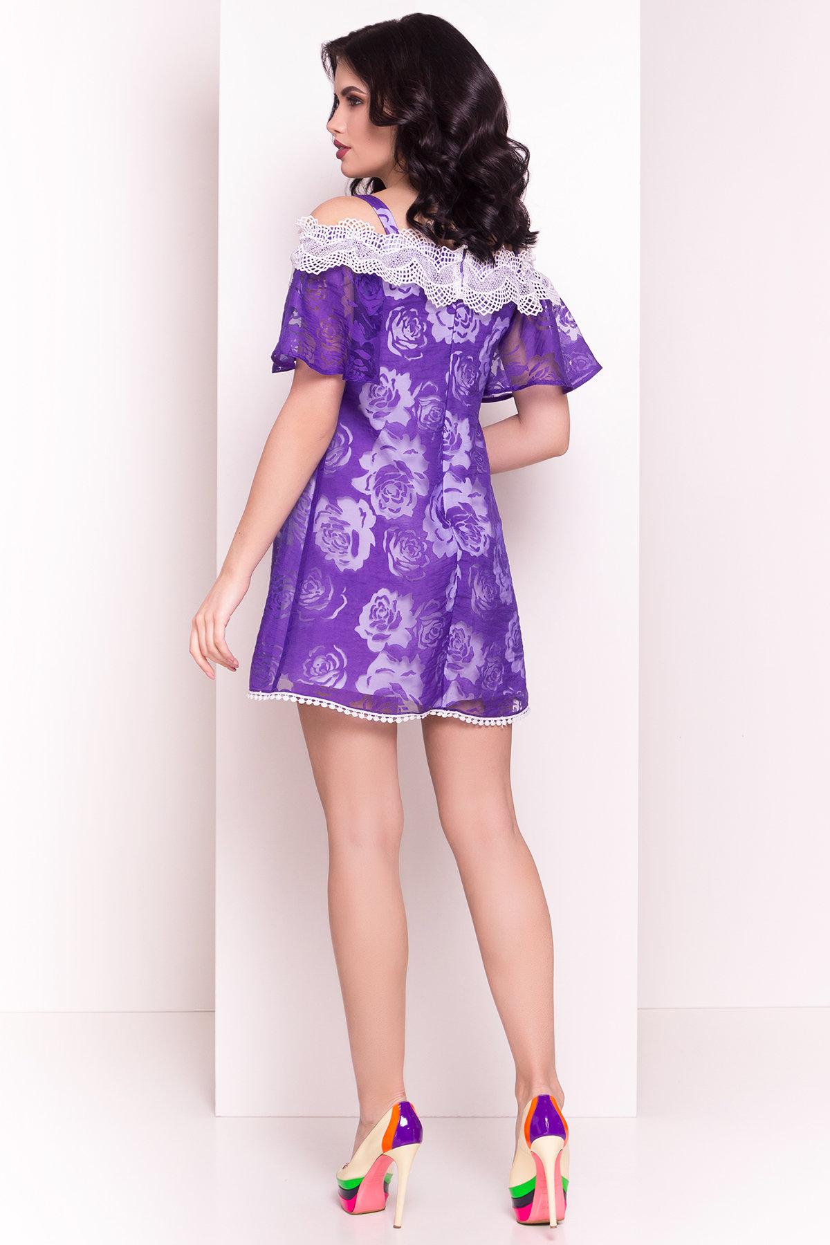 Платье Лонда 5044 АРТ. 35632 Цвет: Фиолетовый - фото 3, интернет магазин tm-modus.ru