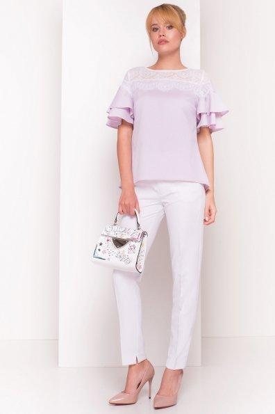 Блуза Ириска 4962 Цвет: Голубой/розовый