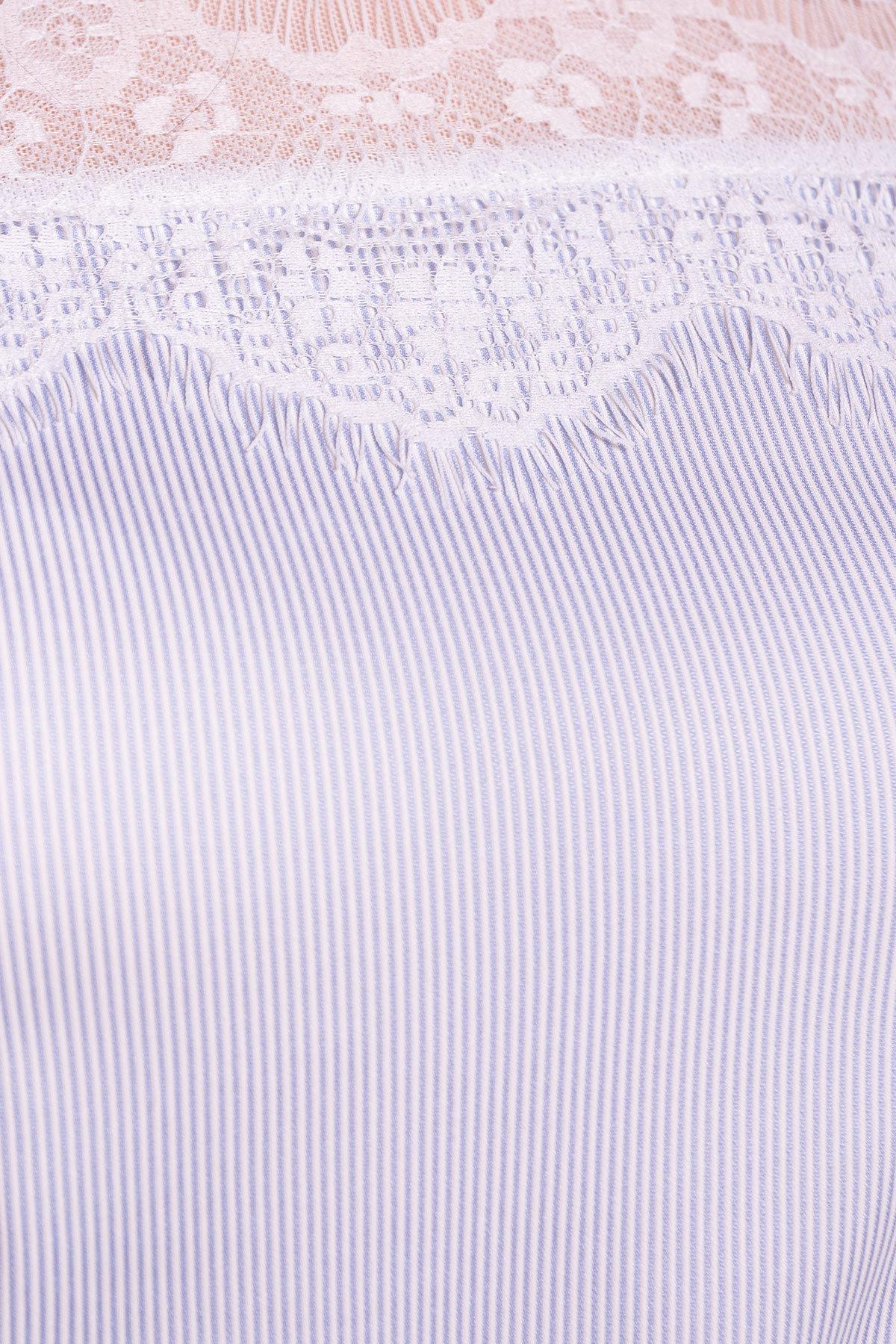Блуза Ириска 4962 Цвет: Голубой/белый