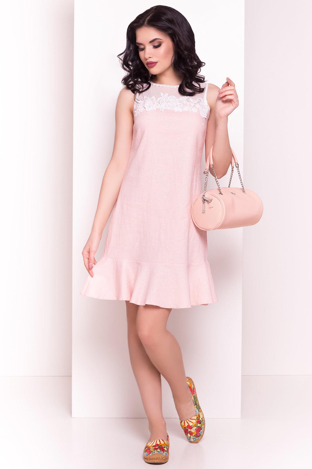 Платье Лидия 4942 Цвет: Пудра