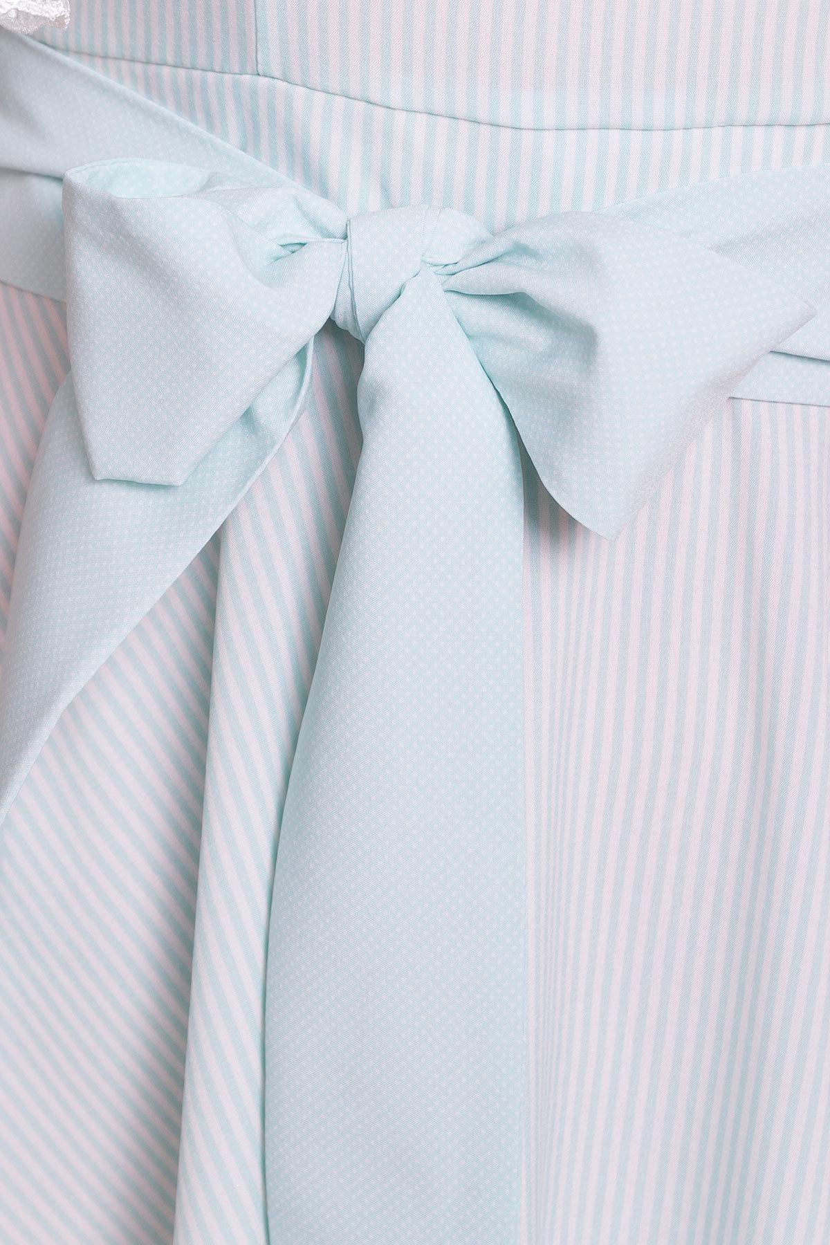 Платье Виолетта 4984 АРТ. 35585 Цвет: Мята/молоко полоска - фото 4, интернет магазин tm-modus.ru