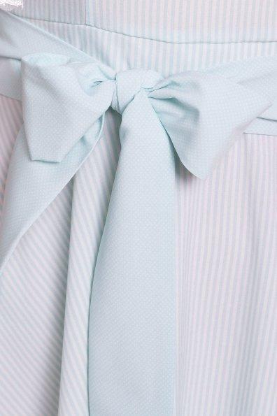 Платье Виолетта 4984 Цвет: Мята/молоко полоска