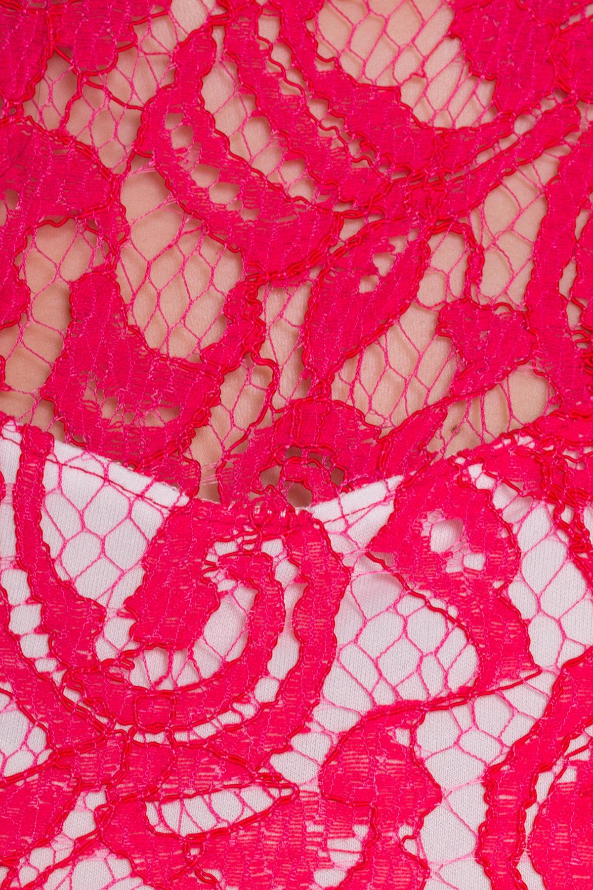 TW Платье Ермия 5051 Цвет: Малиновый/Молоко