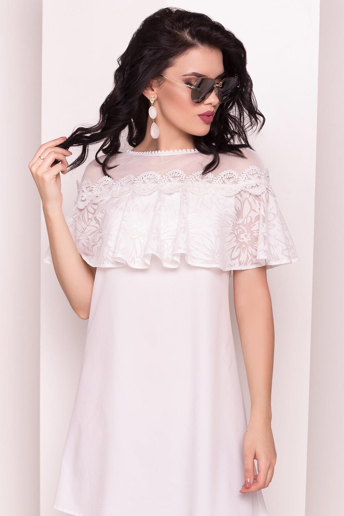 Платье Дени 4983 АРТ. 35386 Цвет: Молоко - фото 2, интернет магазин tm-modus.ru