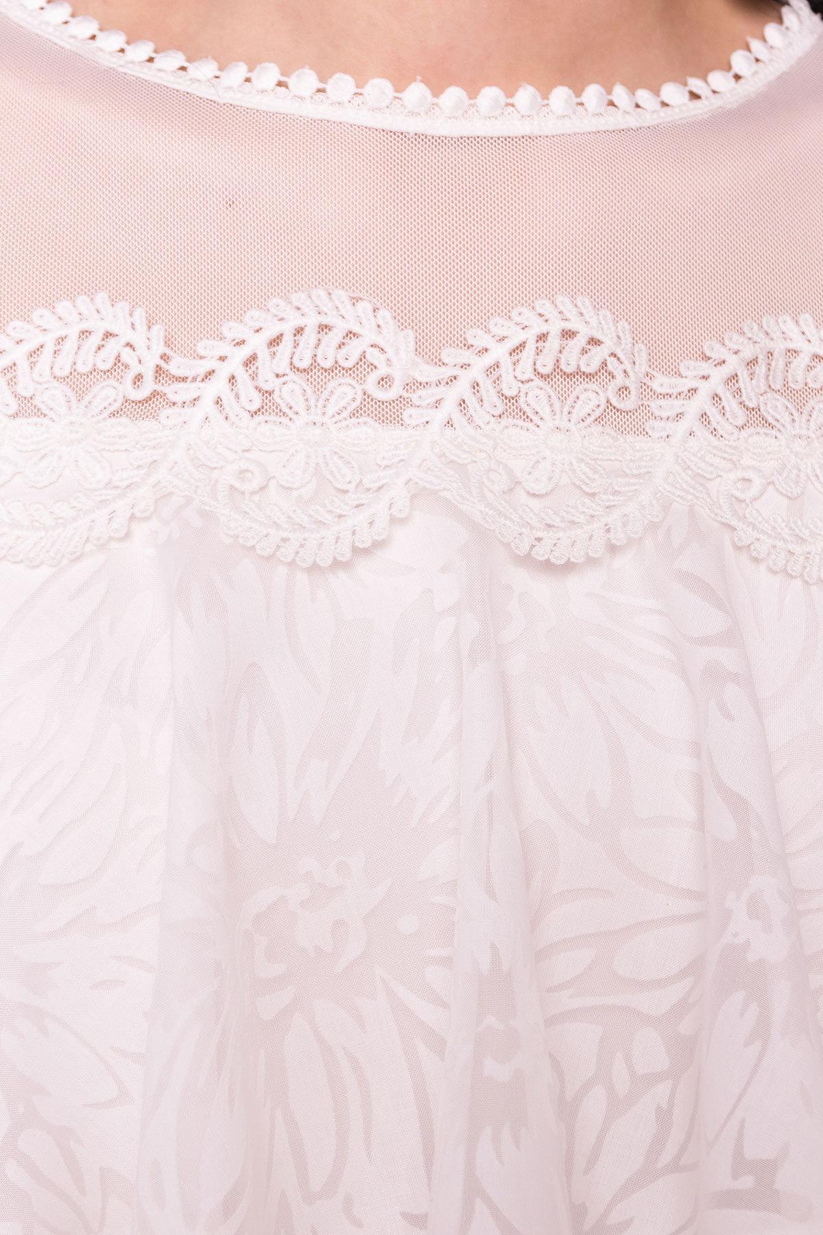 Платье Дени 4983 АРТ. 35386 Цвет: Молоко - фото 4, интернет магазин tm-modus.ru