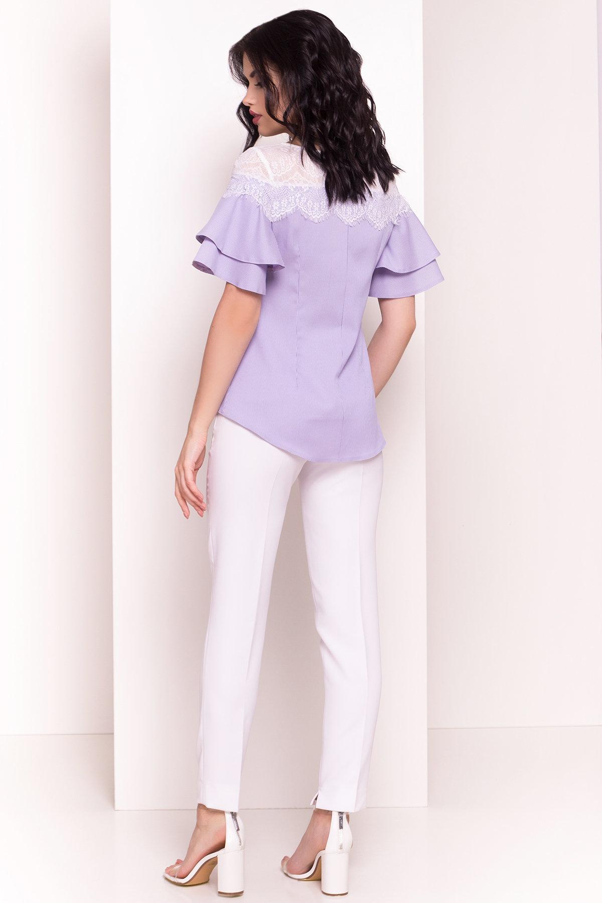Блуза Ириска 4962 АРТ. 35298 Цвет: Синий/розовый - фото 3, интернет магазин tm-modus.ru