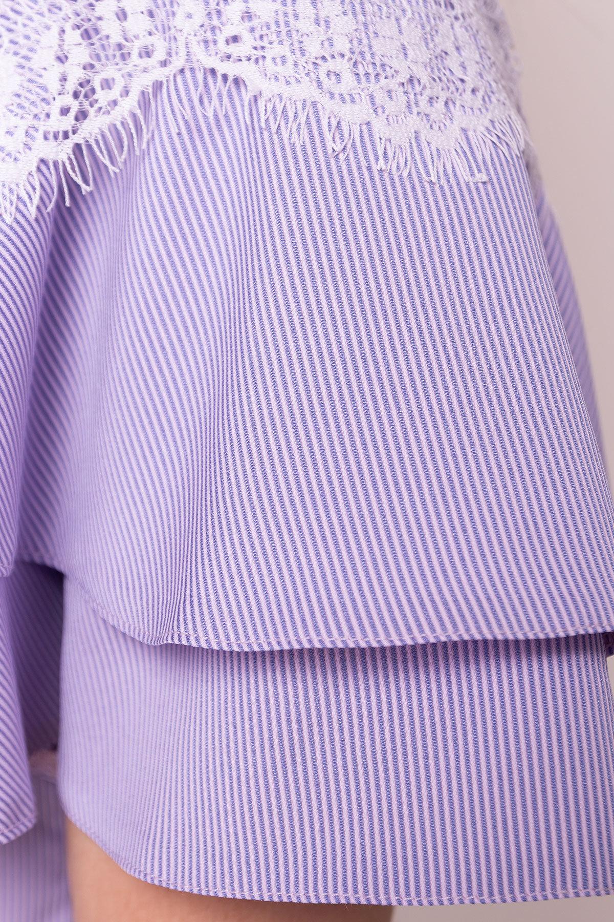 Блуза Ириска 4962 АРТ. 35298 Цвет: Синий/розовый - фото 4, интернет магазин tm-modus.ru