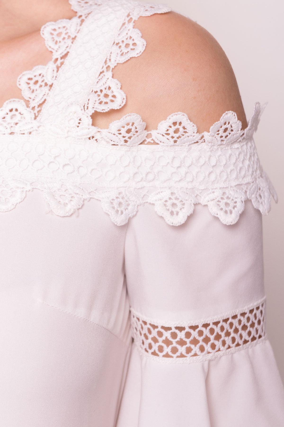 Платье Мальфа 5001 АРТ. 35424 Цвет: Молоко - фото 4, интернет магазин tm-modus.ru