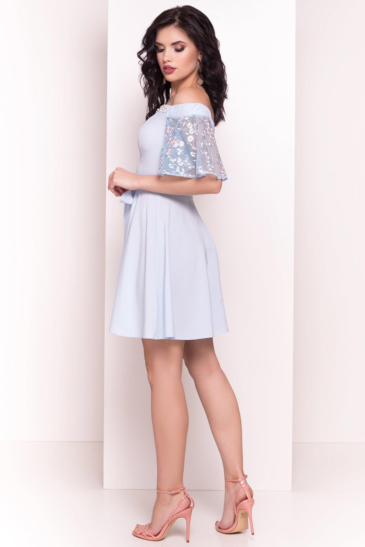 Платье Минхо 4958 АРТ. 35097 Цвет: Голубой - фото 3, интернет магазин tm-modus.ru