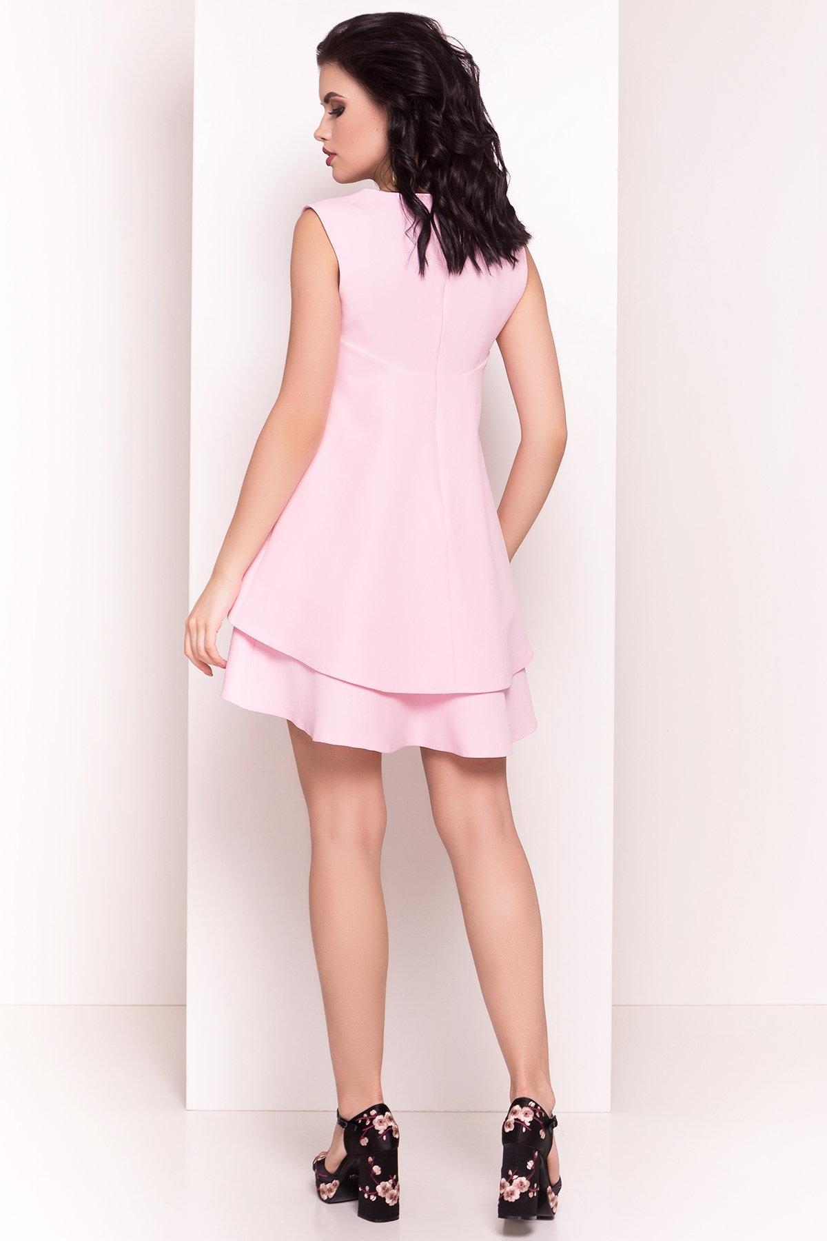 Платье Делафер 2965 АРТ. 15709 Цвет: Светло-розовый - фото 3, интернет магазин tm-modus.ru