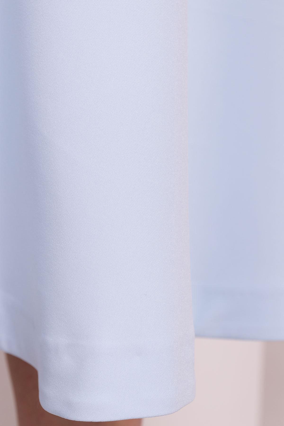 Юбка миди полусолнце Коста 5025 АРТ. 35516 Цвет: Голубой - фото 3, интернет магазин tm-modus.ru