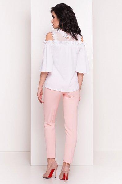 Летняя блуза с открытыми плечами Богемия 5028 Цвет: Белый