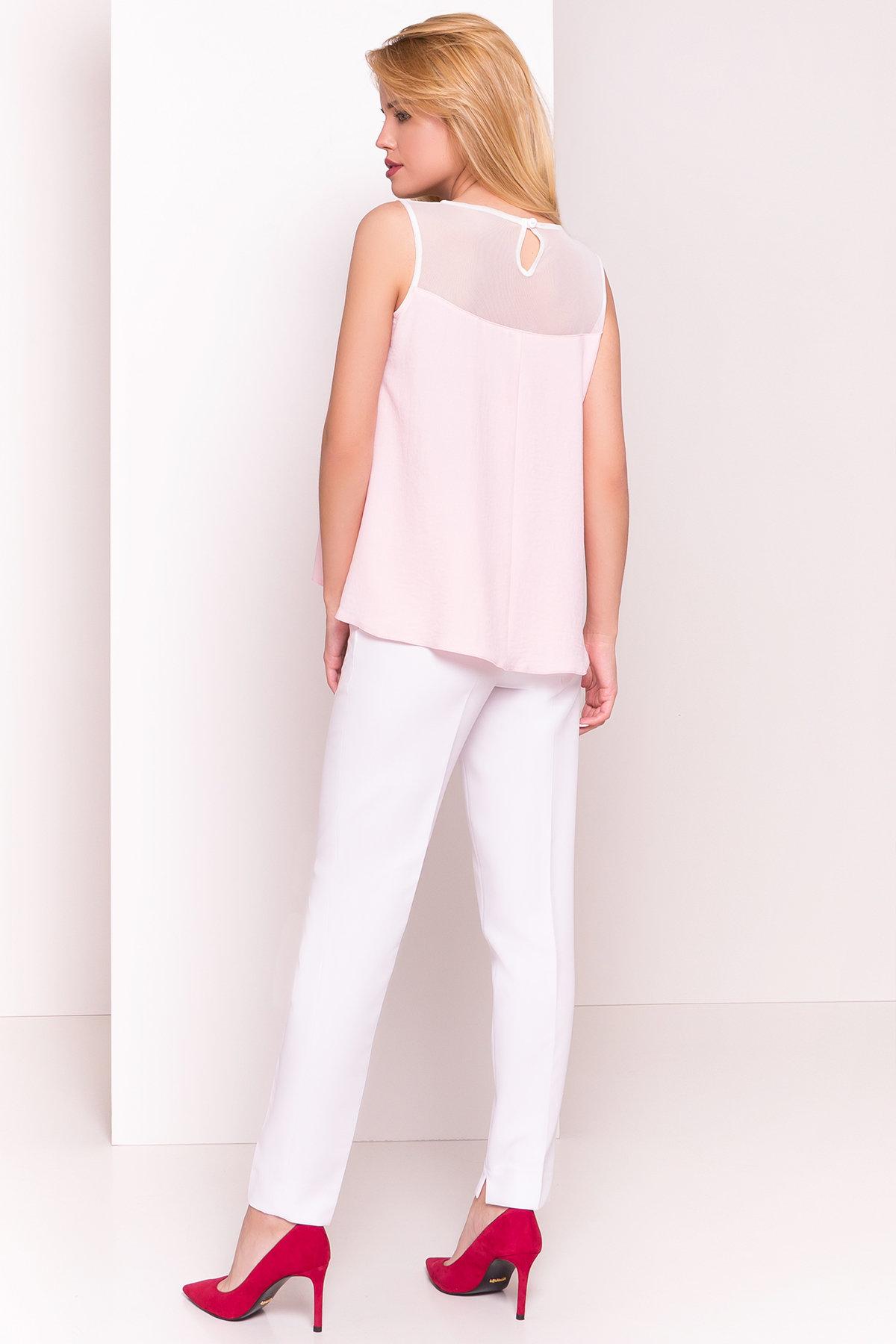 Летняя блуза без рукавов Нелли 4918 АРТ. 34792 Цвет: Розовый Светлый - фото 3, интернет магазин tm-modus.ru