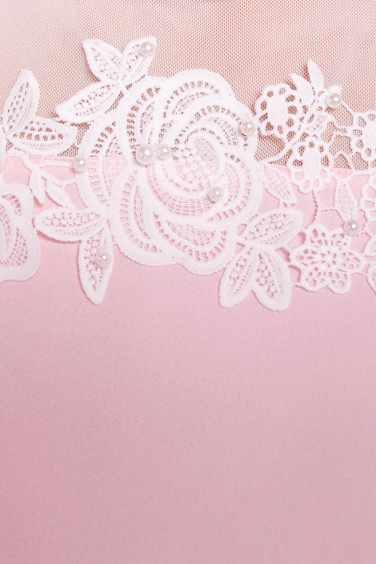 Летняя блуза без рукавов Нелли 4918 АРТ. 34792 Цвет: Розовый Светлый - фото 4, интернет магазин tm-modus.ru
