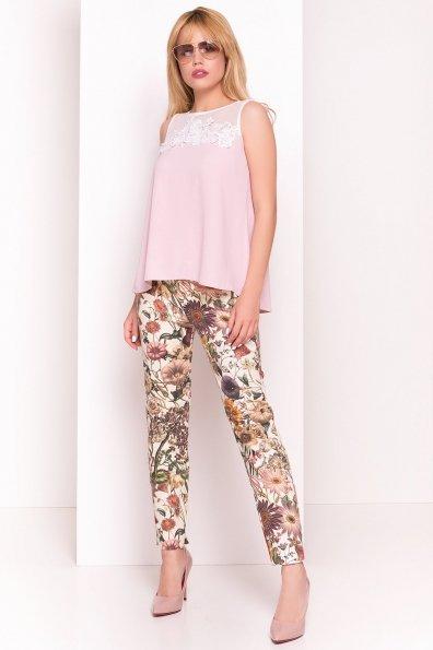 Летняя блуза без рукавов Нелли 4918 Цвет: Розовый