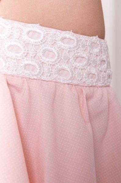 Платье Виолетта 4984 Цвет: Пудра/молоко полоска