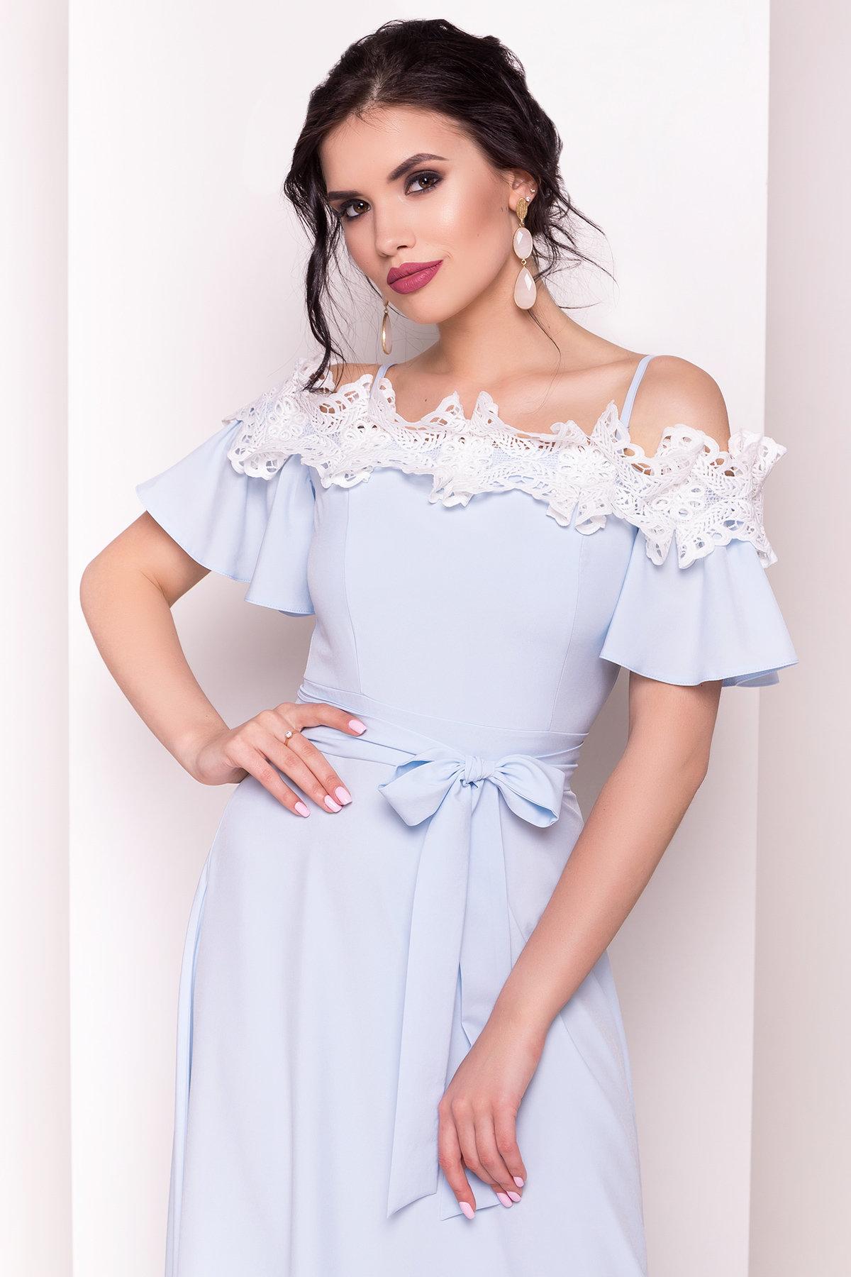 Длинное Платье Монриа 5094 Цвет: Голубой
