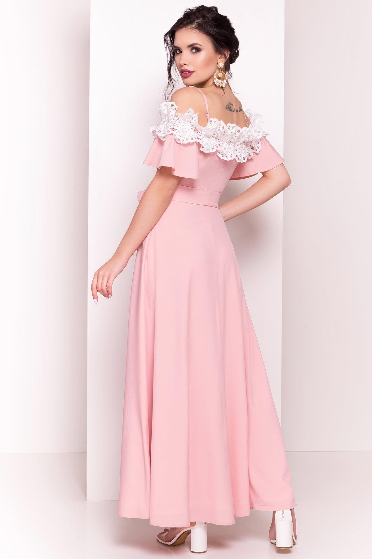 Длинное Платье Монриа 5094 АРТ. 35741 Цвет: Пудра - фото 3, интернет магазин tm-modus.ru