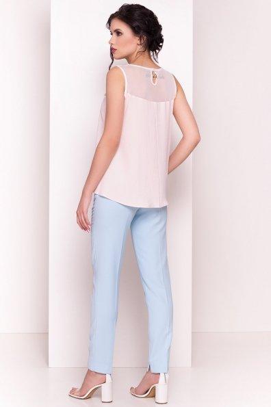 Летняя блуза без рукавов Нелли 4918 Цвет: Пудра