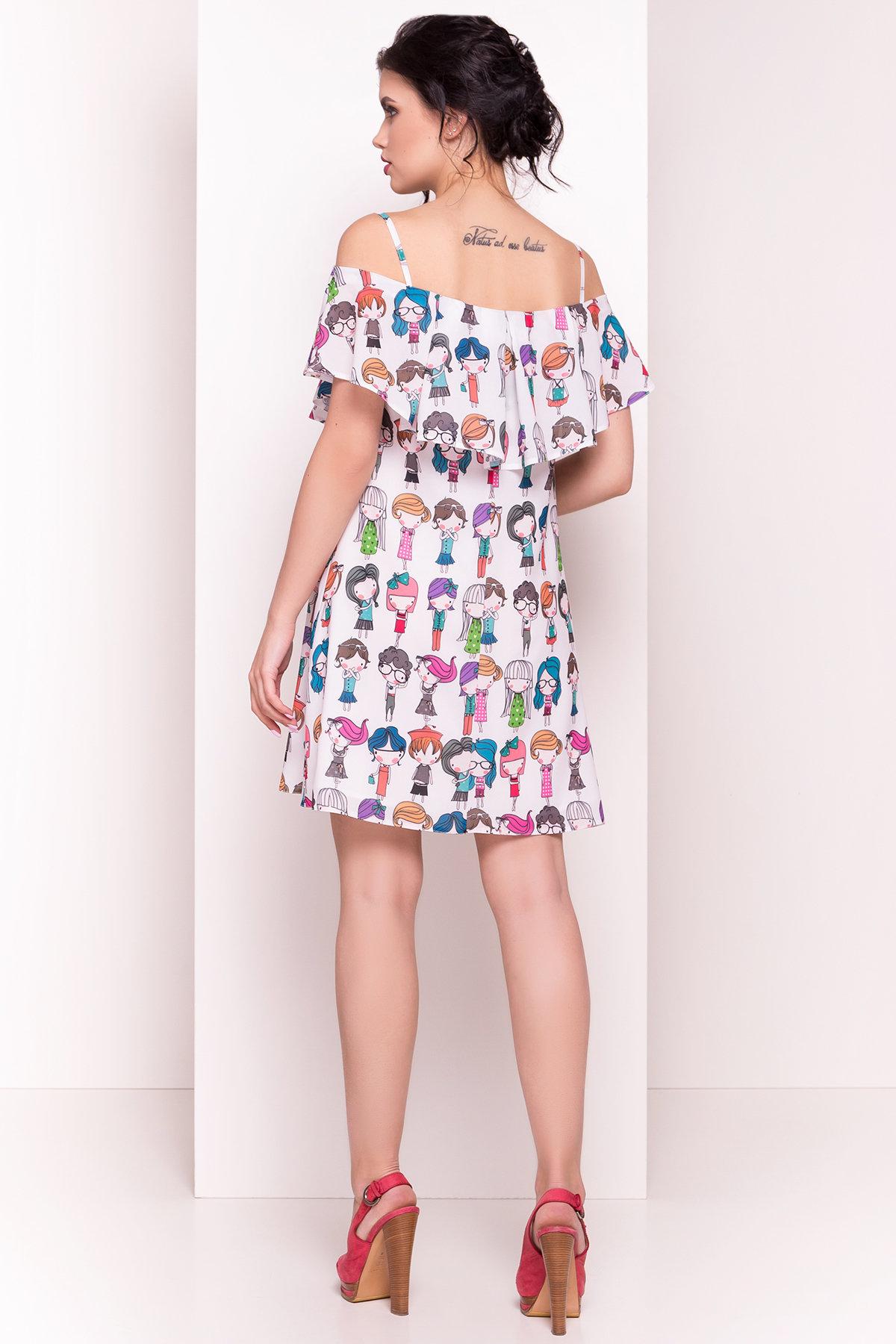 TW Платье Восток 5119 Цвет: Молоко/Разноцветный молодежь
