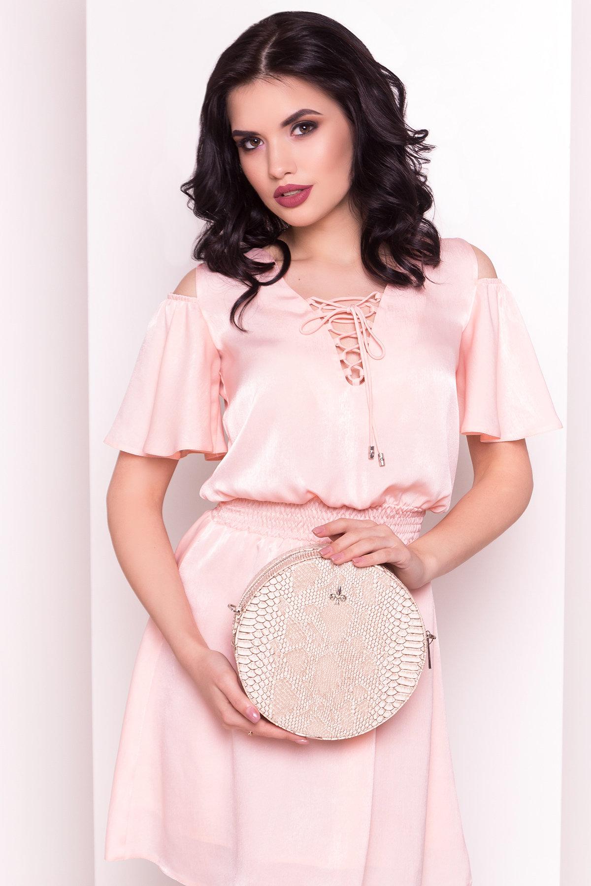 Платье Лолли 5073 АРТ. 35582 Цвет: Пудра - фото 2, интернет магазин tm-modus.ru
