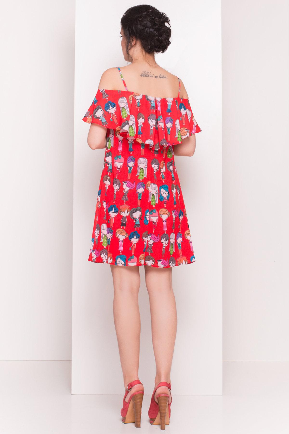 TW Платье Восток 5119 АРТ. 35893 Цвет: Красный/Разноцветный молодежь - фото 3, интернет магазин tm-modus.ru