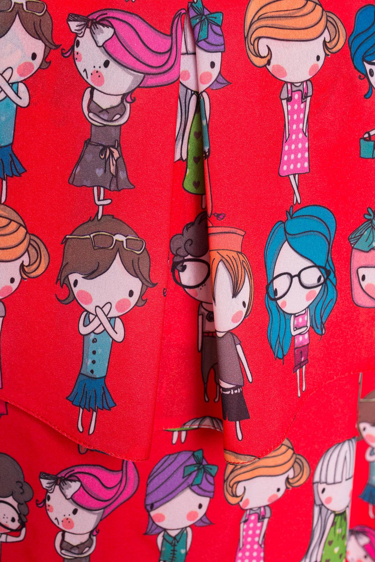 TW Платье Восток 5119 АРТ. 35893 Цвет: Красный/Разноцветный молодежь - фото 4, интернет магазин tm-modus.ru