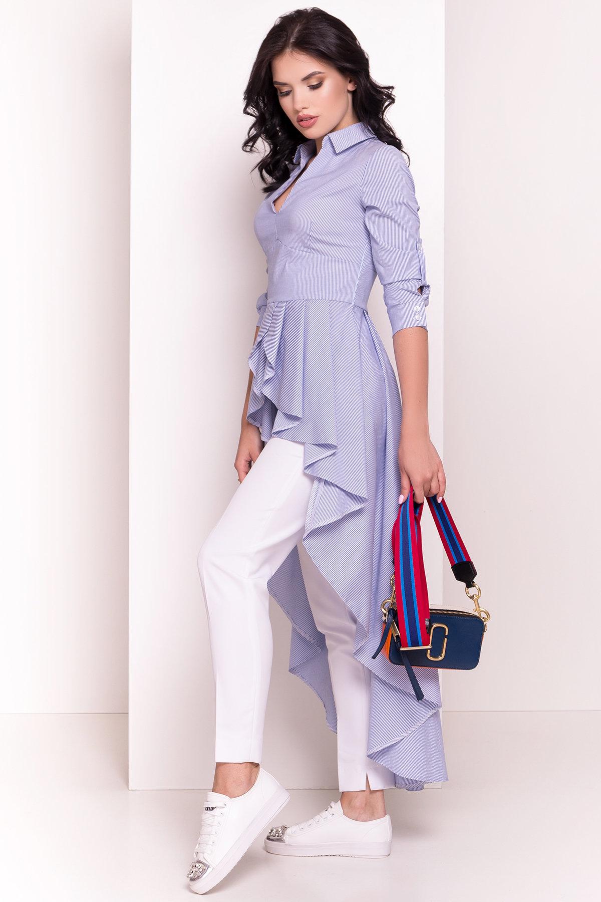 Платье-туника Феникс 5078 АРТ. 35630 Цвет: Темно-синий/белый - фото 2, интернет магазин tm-modus.ru
