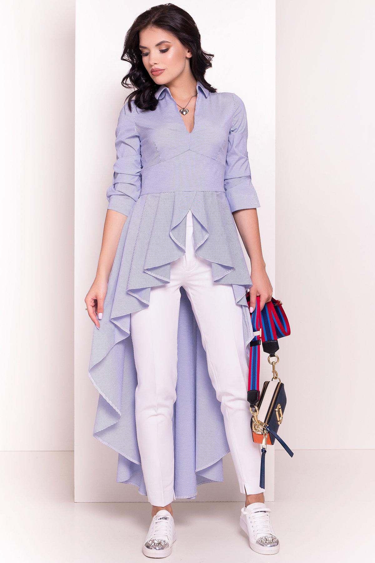 Платье-туника Феникс 5078 АРТ. 35630 Цвет: Темно-синий/белый - фото 1, интернет магазин tm-modus.ru