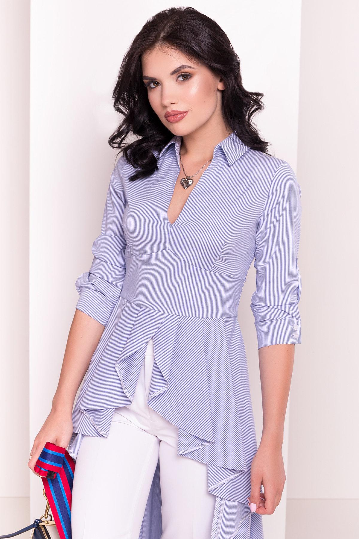Платье-туника Феникс 5078 АРТ. 35630 Цвет: Темно-синий/белый - фото 3, интернет магазин tm-modus.ru