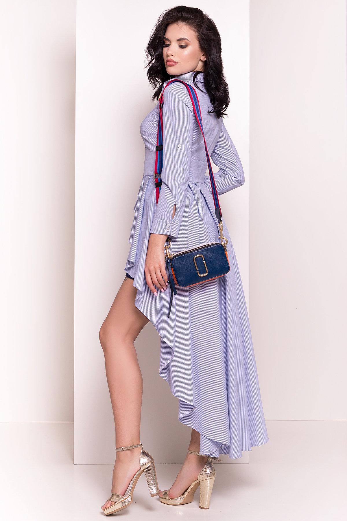 Платье-туника Феникс 5078 АРТ. 35630 Цвет: Темно-синий/белый - фото 5, интернет магазин tm-modus.ru