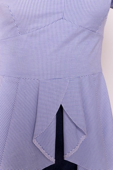 Платье-туника Феникс 5078 Цвет: Темно-синий/белый