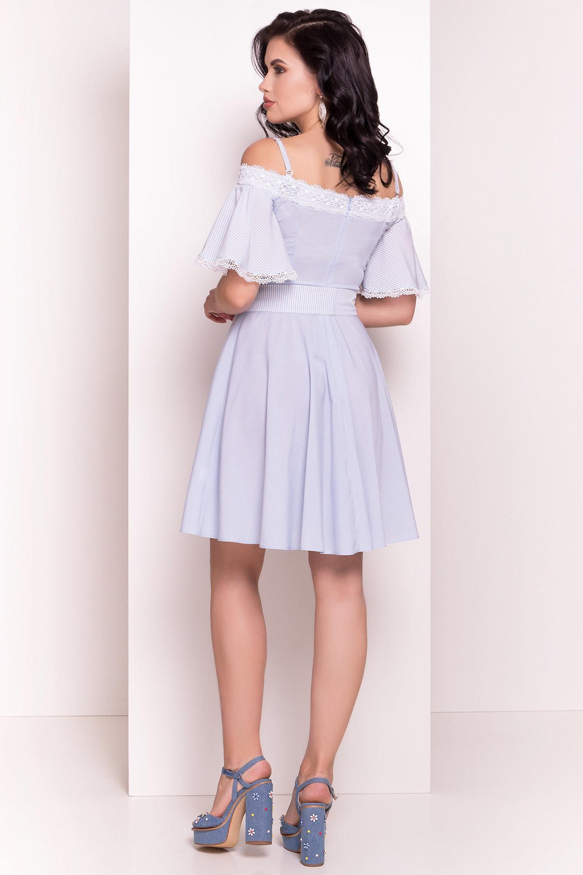 Платье Виолетта 4984 АРТ. 36119 Цвет: Голубой/молоко горох 1 - фото 6, интернет магазин tm-modus.ru