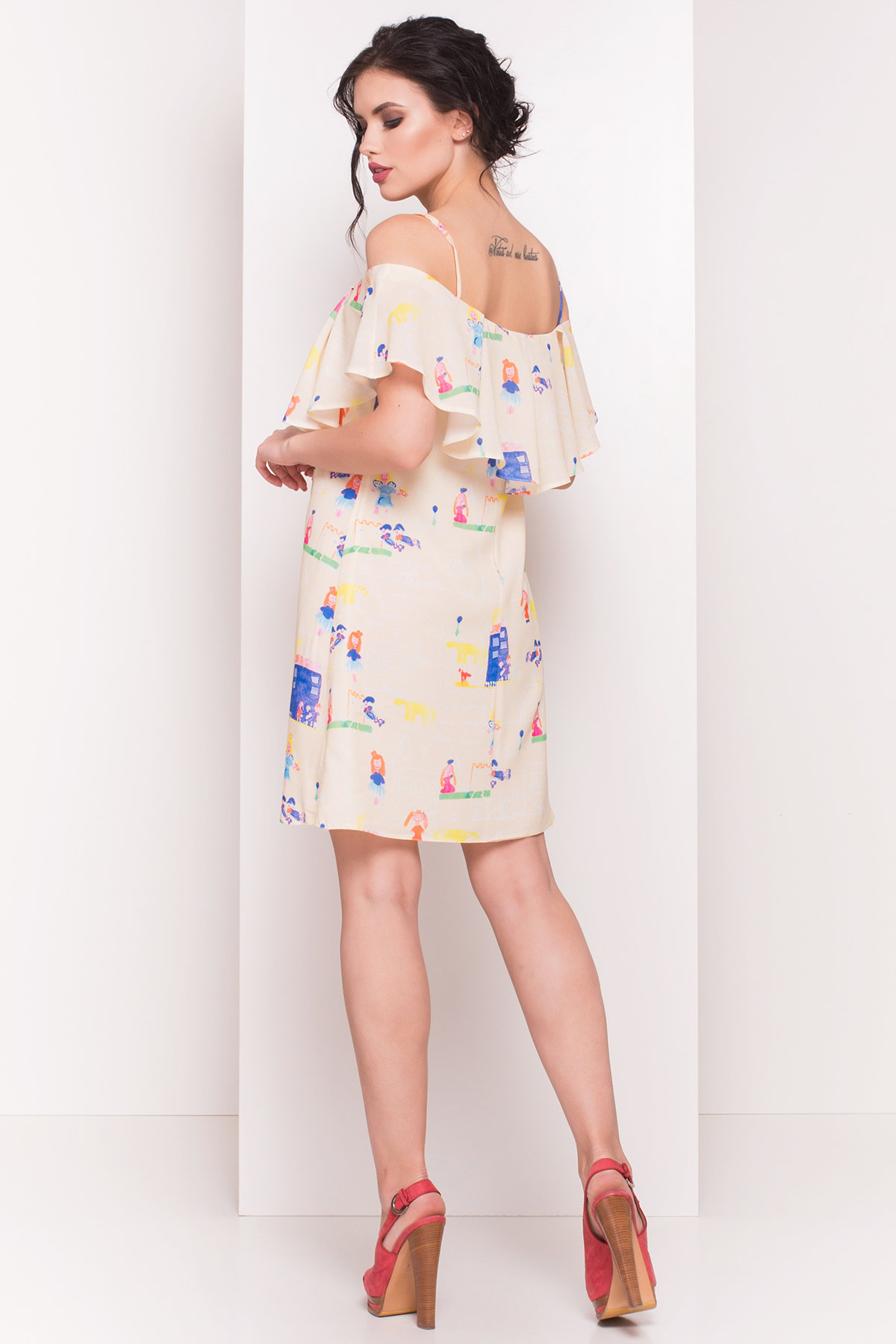 TW Платье Восток 5119 Цвет: Лимон/Детские рисунки 14/3
