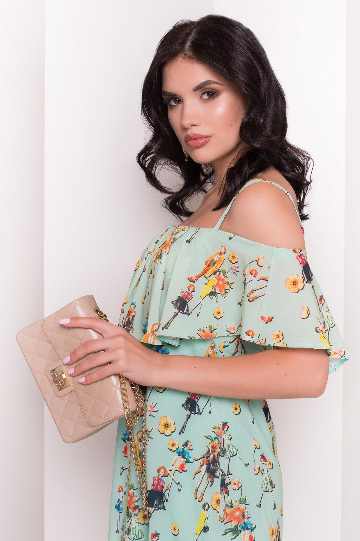 TW Платье Восток 5115 Цвет: Мята/Девушка
