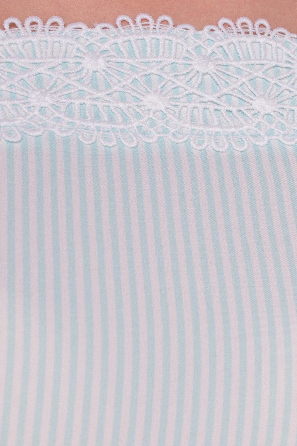 Платье Виолетта 4984 Цвет: Мята/молоко полоска 1